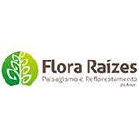 Logotipo Flora Raízes   JCP Soluções Ambientais Campinas